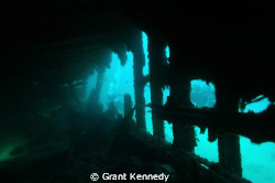 Wreck of the HMS Mauri, near the fort of St. Elmo, Malta by Grant Kennedy 